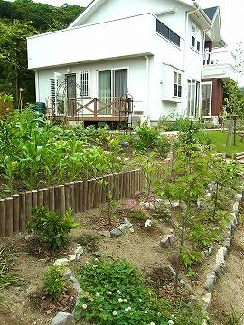 9 お客様がつくられた菜園
