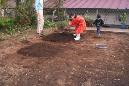 畑7堆肥混ぜる2.JPG